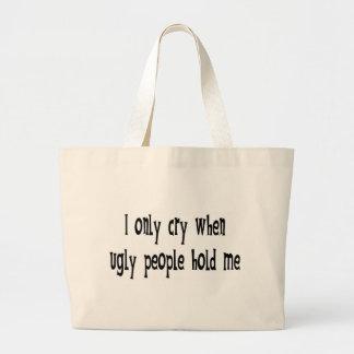 Ugly people jumbo tote bag