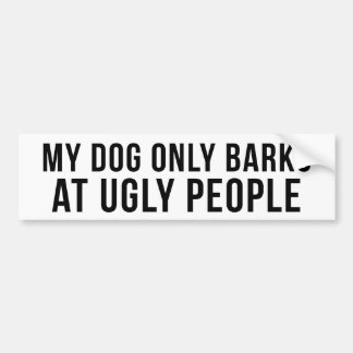 Ugly People Black on White Bumper Sticker