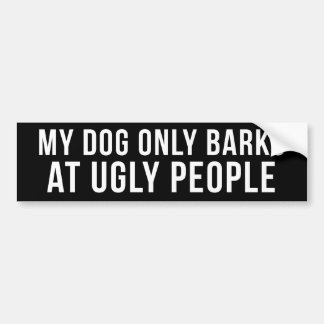Ugly People White on Black Bumper Sticker