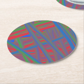 Ugly piece of art round paper coaster