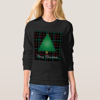 Ugly Plaid Christmas Tree Sweatshirt