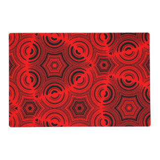 Ugly red pattern placemat