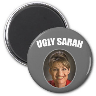 Ugly Sarah 2 Inch Round Magnet