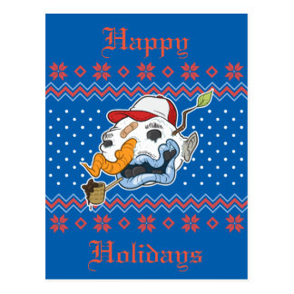 Ugly Snowman Ugly Sweater Postcard