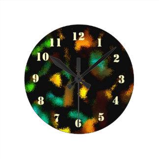 Ugly strange pattern round clock