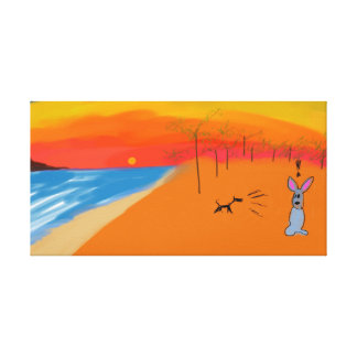 Ugly Sunset Canvas Print