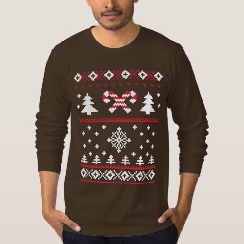 Ugly Sweater Candy Cane Christmas Sweater Fun After Christmas Sales 3216