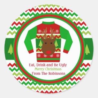 Ugly Sweater Christmas Holiday Gift Tag