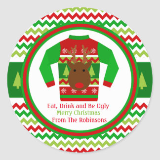 Ugly Sweater Christmas Holiday Gift Tag