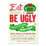 Ugly Sweater Christmas Party Holiday Invitation