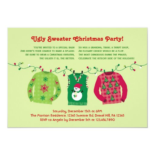Ugly Christmas Party Invitations as awesome invitation sample
