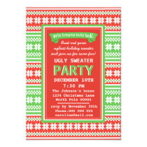 Ugly Sweater Christmas Party Invitation