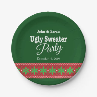 Ugly Sweater Christmas Party, Personalized Paper Plate
