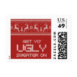 ugly sweater christmas party postage
