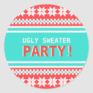 Ugly Sweater Christmas Party Sticker