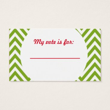 Christmas Themed Ugly Sweater Christmas Party Voting Ballot Business Card