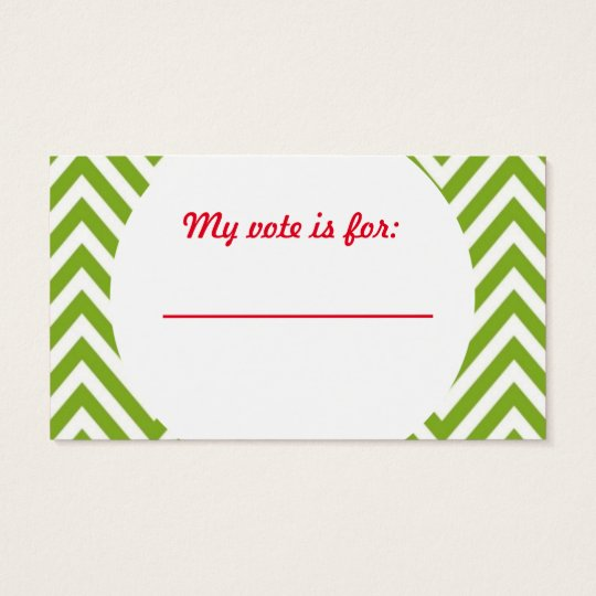 Ugly Sweater Christmas Party Voting Ballot Business Card ...