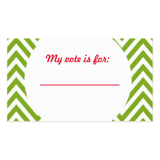 Ugly Sweater Christmas Party Voting Ballot Double-Sided Standard Business Cards (Pack Of 100)