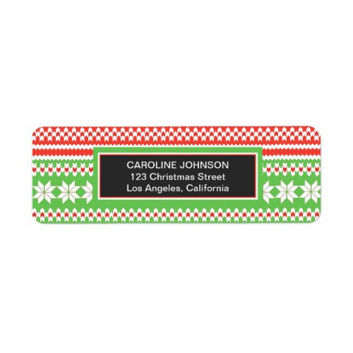 Ugly Sweater Christmas Return Address Labels