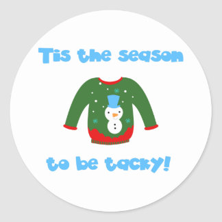 Ugly Sweater Classic Round Sticker