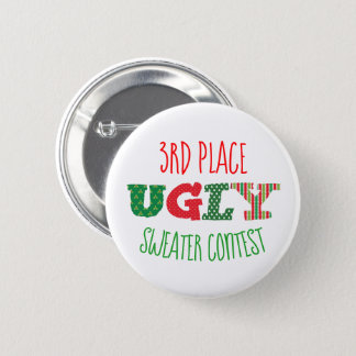 Ugly Sweater Contest Button