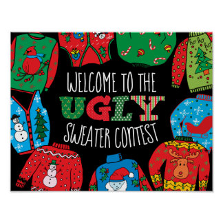 Ugly Sweater Contest, Welcome sign