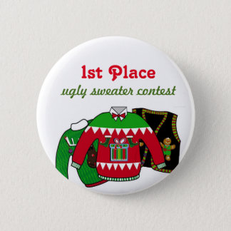 Ugly Sweater Contest Winner Button
