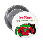 Ugly Sweater Contest Winner Pinback Button