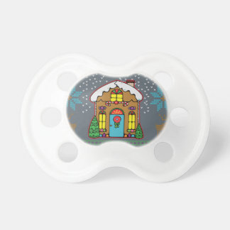 Ugly Sweater Gingerbread House Men Pacifier