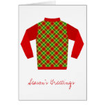 UGLY SWEATER Holiday Greeting Card