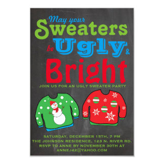 Ugly Sweater Holiday Party. 3.5x5 Paper Invitation Card