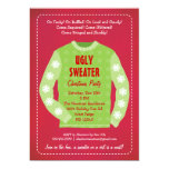 "Ugly Sweater Holiday Party Invitation 5"" X 7"" Invitation Card"