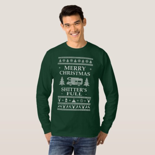 Ugly Sweater Merry Christmas Shitters Full RV After Christmas Sales 3241