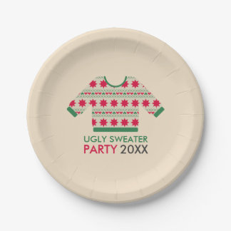 Ugly Sweater Paper Plate