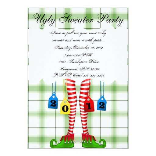 Ugly Sweater Party Card