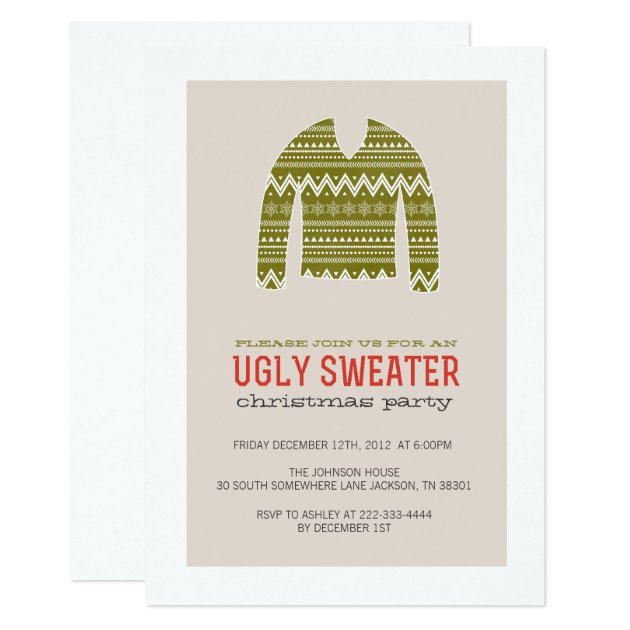 Christmas Sweater Party Invitations with best invitations template