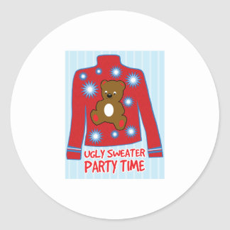 Ugly Sweater Party Classic Round Sticker