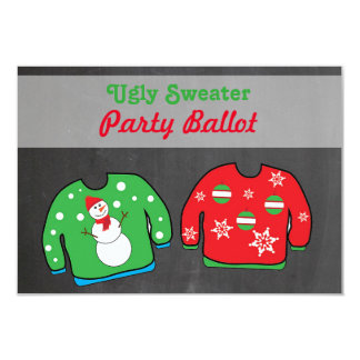 Ugly Sweater Party Contest Voting Ballot Custom Invite