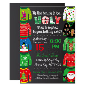 Ugly Sweater Party Invitations Zazzle