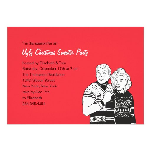 Ugly Sweater Invite Wording for luxury invitation ideas