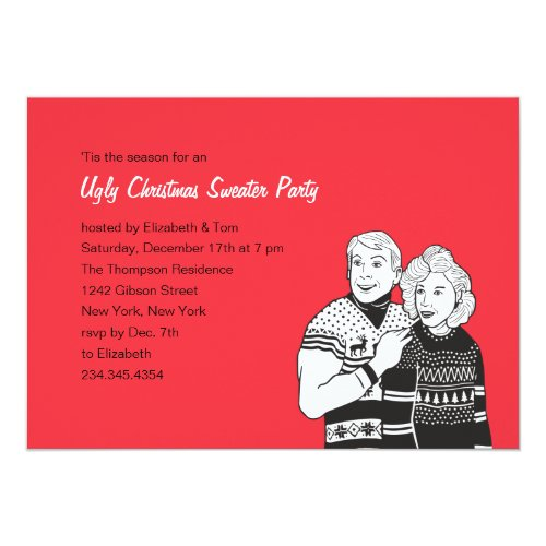 Top 50 funny holiday party invitations holiday greeting card ugly sweater party invitations stopboris Images