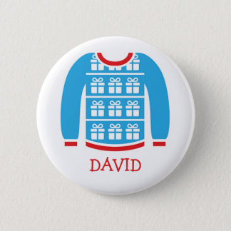 Ugly Sweater Party Name Tags Button