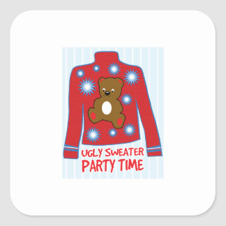 Ugly Sweater Party Square Sticker