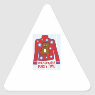 Ugly Sweater Party Triangle Sticker