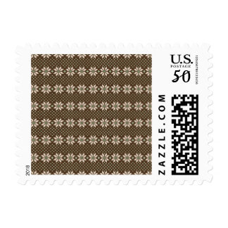 Ugly Sweater Snowflake Postage