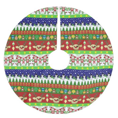 Ugly Christmas Sweater Pattern Polyester Tree Skirt