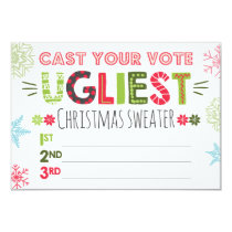 Ugly sweater voting ballot Christmas sweater Invitation