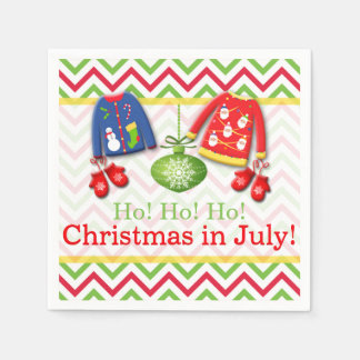 Ugly Sweaters Christmas in July Paper Napkins