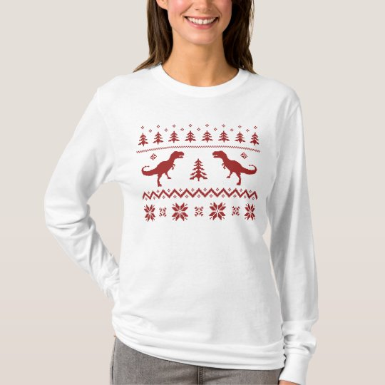 Ugly T-Rex Dinosaur Christmas Sweater