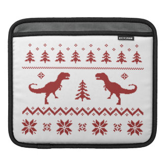 Ugly T-Rex Dinosaur Christmas Sweater Sleeves For iPads